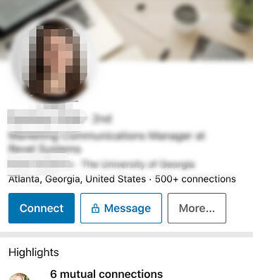 LinkedIn Personalized Message