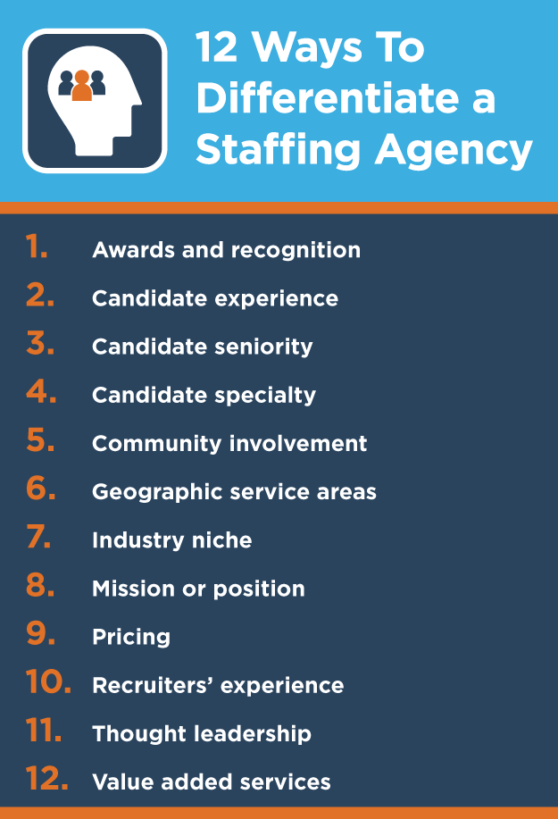 how to differentiate a staffing agency