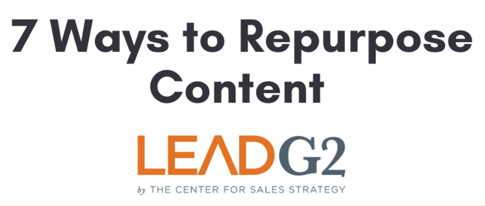 How to Repurpose Content [INFOGRAPHIC]