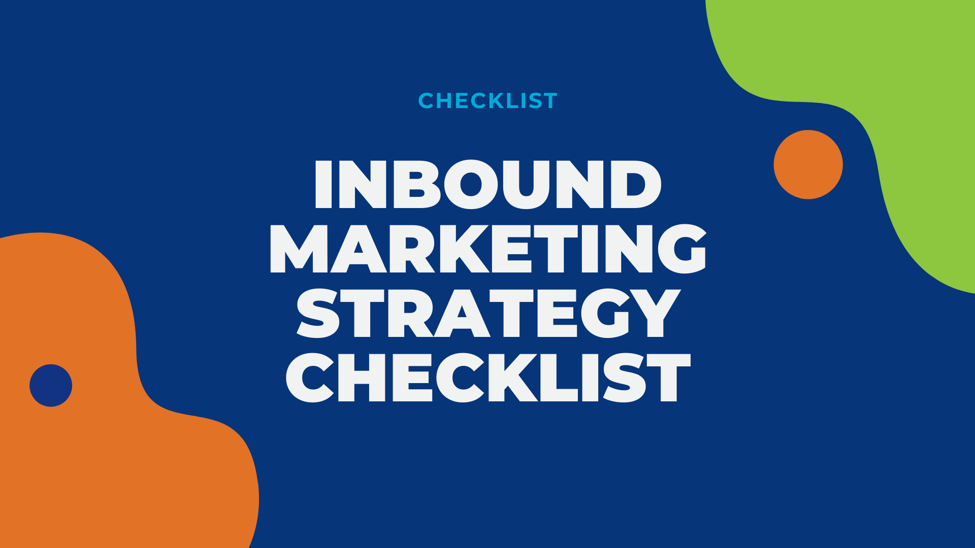 LG2 Website Resource - Inbound marketing strategy checklist